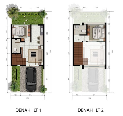 Tipe 5 x 12 Spesifikasi 2 Bedroom