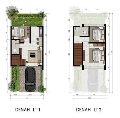 Tipe 5 x 12 Spesifikasi 3 Bedroom