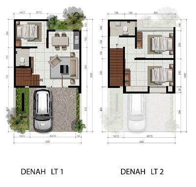 Tipe 6 x 10 Spesifikasi 3 Bedroom